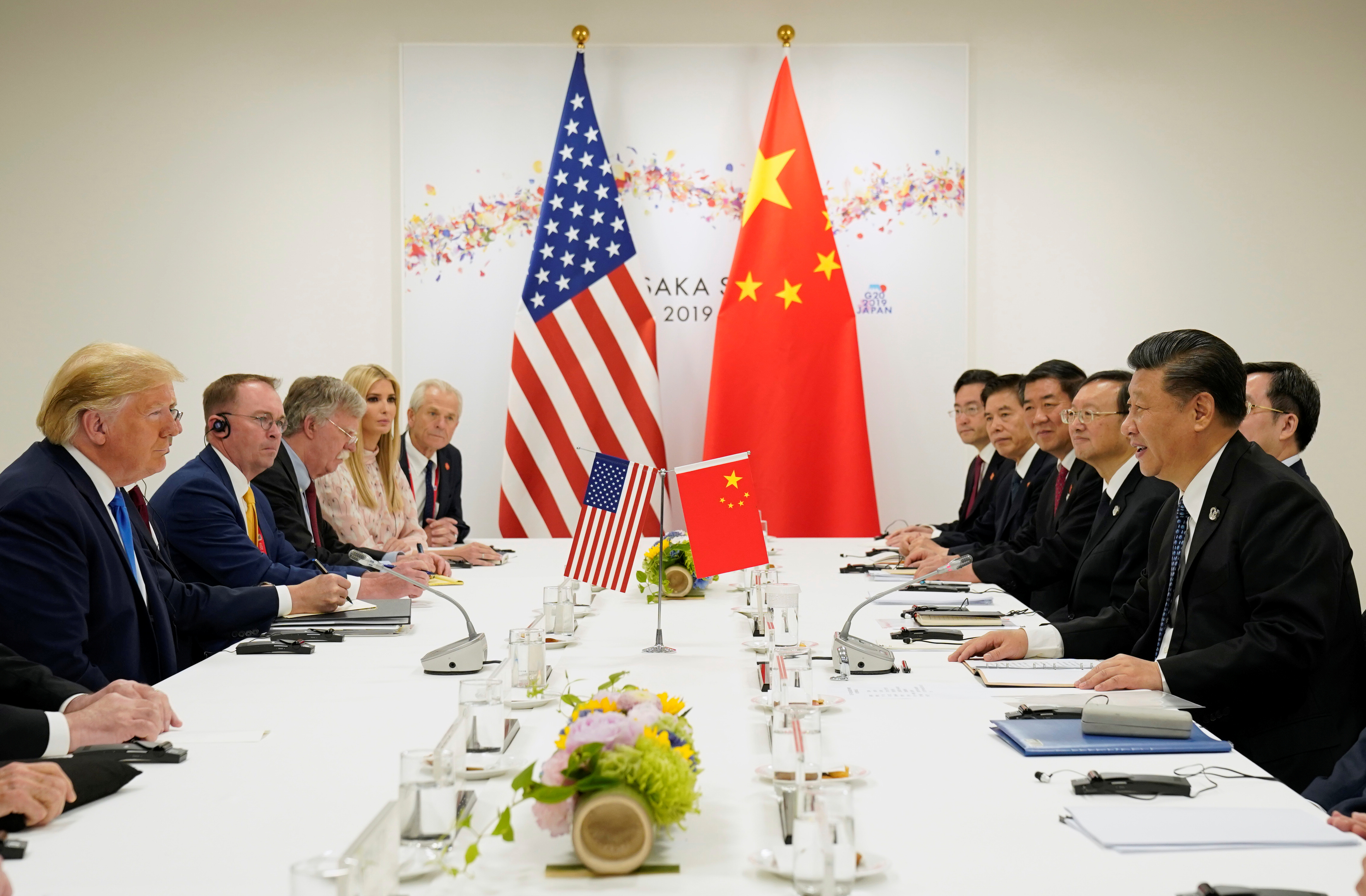 U.S. President Donald Trump attends a bilateral meeting with China's President Xi Jinping during the G-20 leaders summit in Osaka, Japan, June 29, 2019.